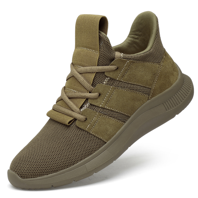 6CM Height Increase Invisible Elevator Outdoor Shoes Men Casual Sneakers Fashion Comfortable Men Shoes Khaki Black Size 37-44