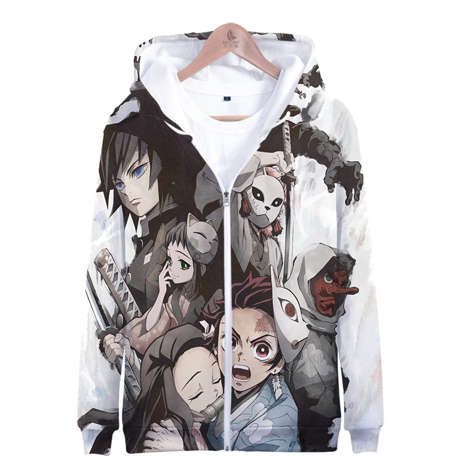 Anime Demon Slayer Kimetsu No Yaiba Cosplay Tanjiro Kamado Hoodies Men Women Costume Long Sleeve Hoodie Sweatshirt Brand Clothes