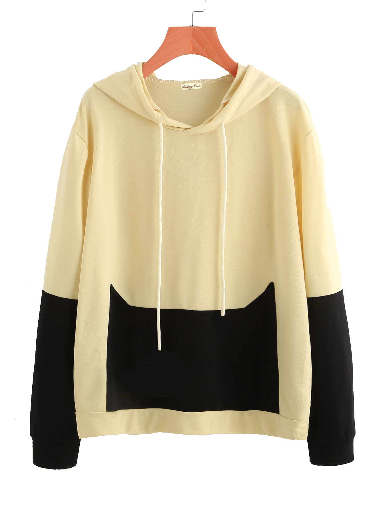 Cat Cute Patchwork Hoodies Sweatshirts 2019 Women Casual Kawaii Harajuku New Sweat Punk For Girls Clothing European Tops Korean