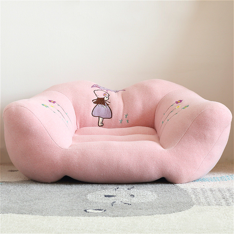 Comfortable Children's Sofa Tatami Kids' Small Seat Chair Cartoon Lazy Fluffy Soft Sofa