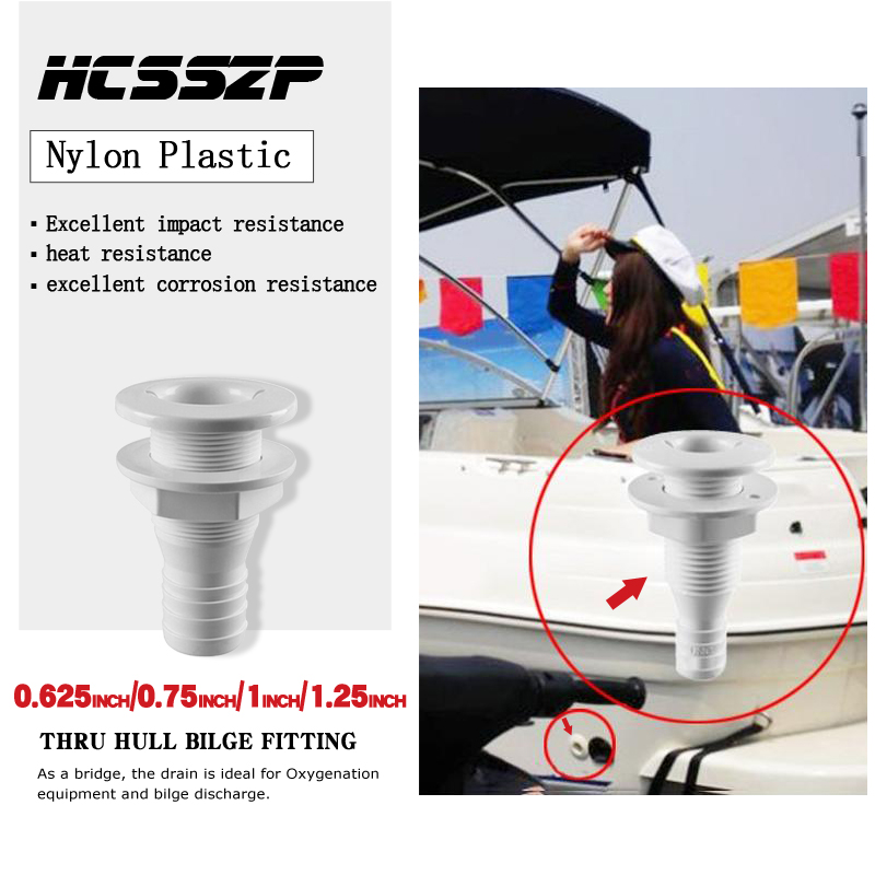 Image 2 - 5 Pcs Thru Hull Bilge Fitting for Bilge Pump Drain Vent Aerator Hose Fitting of Boat Marine Yacht Sail RV Camper Truck Plastic-in Marine Hardware from Automobiles & Motorcycles