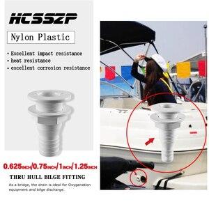 Image 2 - 5 Pcs Thru Hull Bilge Fitting for Bilge Pump Drain Vent Aerator Hose Fitting of Boat Marine Yacht Sail RV Camper Truck Plastic