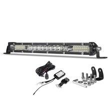 Deri barra de luz de led reta, linha única, 10 polegadas, 80w para 4wd suv atv 4x4 off road led lâmpada de luz de trabalho com fio led