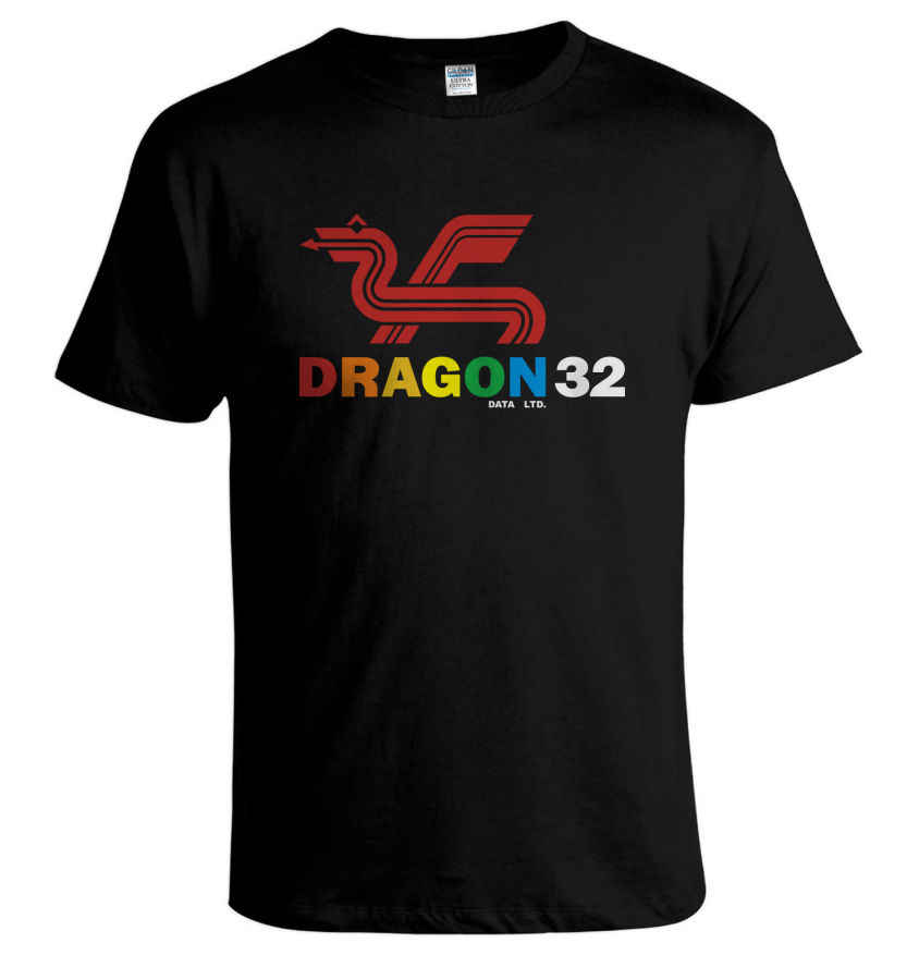 DRAGON 32 camiseta de ordenador Retro 80's Video Games COMMODORE 64 saintclara espectro