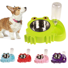 все цены на Cat  Pet Dual Bowl Feeder Automatic Water Dispenser Food Dish Bowl Feeder Pet Cat Dog Bird Rabbit Drinking Bowl D35 онлайн