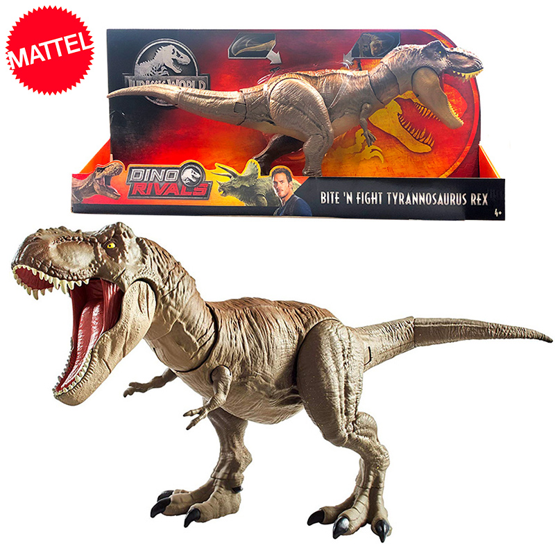 Original 56cm Jurassic World Bite Fight Tyrannosaurus Rex Large Competitive Movie Dinosaur Model Action Figure Toy For Children