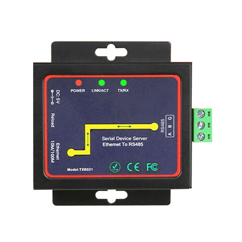 Rs485 To Tcp/Ip Converter Ethernet Server Module Communication Converter(Eu Plug)