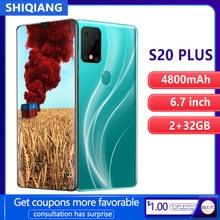 SOYES S20 Plus telefon komórkowy Android inteligentna twarz i odcisk palca odblokuj 6.7 cala 2GB + 32GB 2 karty Sim Smartphone telefon 4800mAh