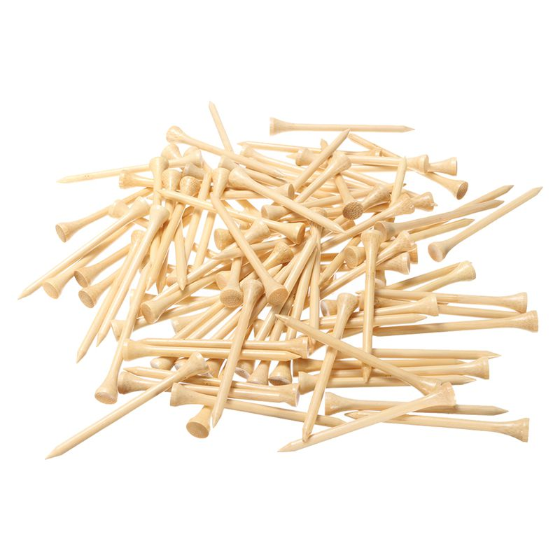 NEW-100x Burlywood Wooden Professional Golf Tees 83mm 3 1/4 Inch Length Golfer Gift