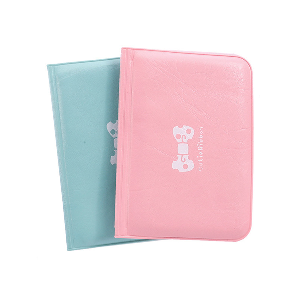 Cute Candy Color PU Leather On Cover Wallet Case For Auto Driver License Bag Car Driving Documents Business Card Holder Purse