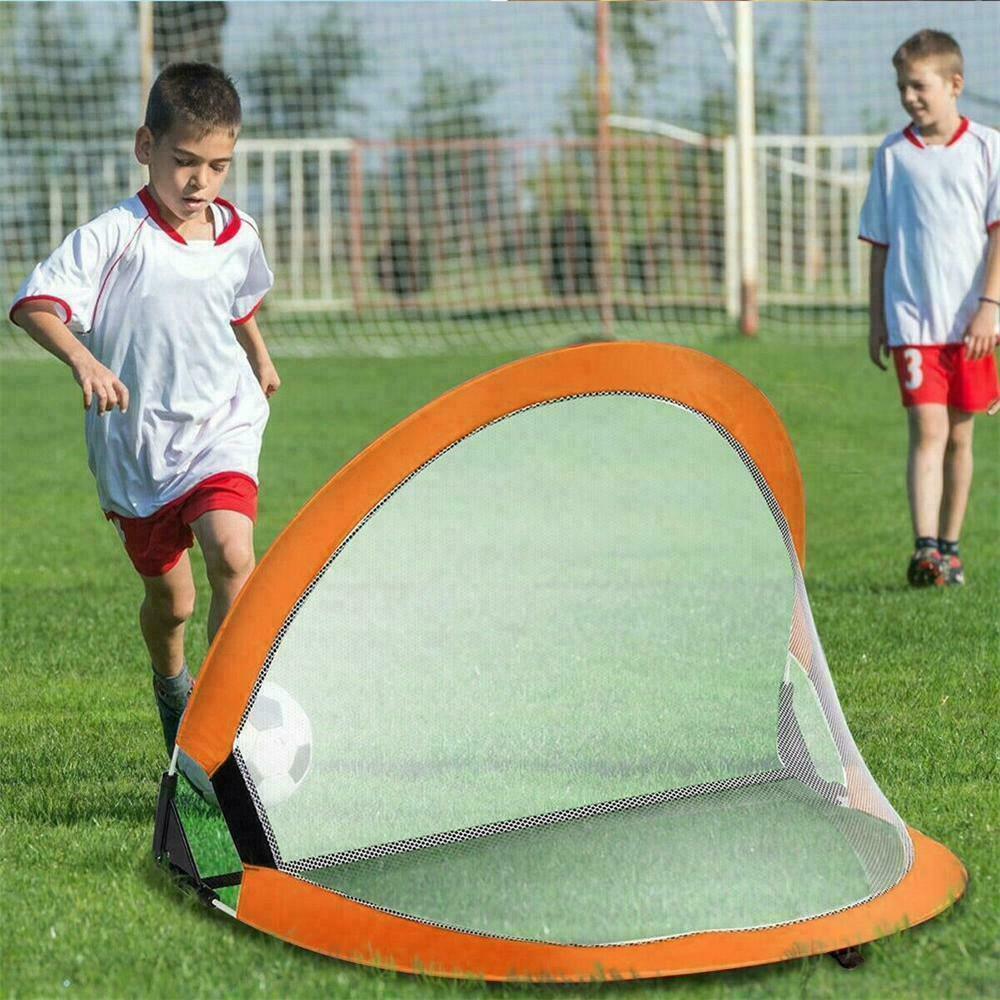 Kids Portable Folding Football Goal-Net Outdoor-Play Training Gate Soccer Outdoor Training Net Goal Accessory Fitness Equipment