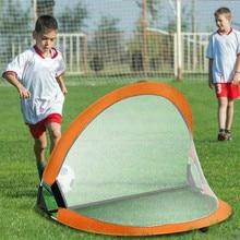 цена Kids Portable Folding Football Goal-Net Outdoor-Play Training Gate Soccer Outdoor Training Net Goal Accessory Fitness Equipment онлайн в 2017 году