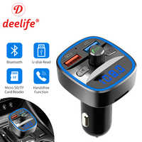 Bluetooth 5.0 FM Transmitter Car Modulator Wireless Handsfree Kit Auto Audio MP3 Player QC3.0 Quick Charge Dual USB Charger