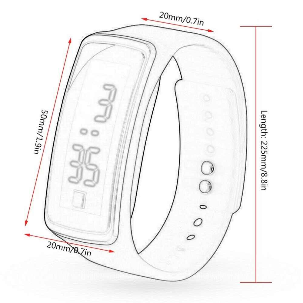 Nueva correa de silicona para mujeres y hombres, relojes digitales deportivos con pantalla LED, relojes de pulsera de moda al aire libre, relojes de regalo para estudiantes