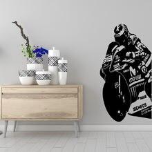 Красота мотоцикл семья наклейки на стену росписи искусство домашний