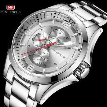 New Fashion Business Watch Men Waterproof Top Brand Luxury Design Chronograph Stainless Steel Relogio Masculino MINI FOCUS