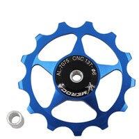 MEROCA MTB Mountain Bike 11T 13T Aluminum Alloy Bicycle Steel Bearing Jockey Wheel Rear Derailleur Pulley Guide Pulleys