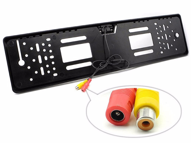 European Style License Plate Frame High-definition Night Vision On Board Camera CCD European Brand-Webcam PZ421