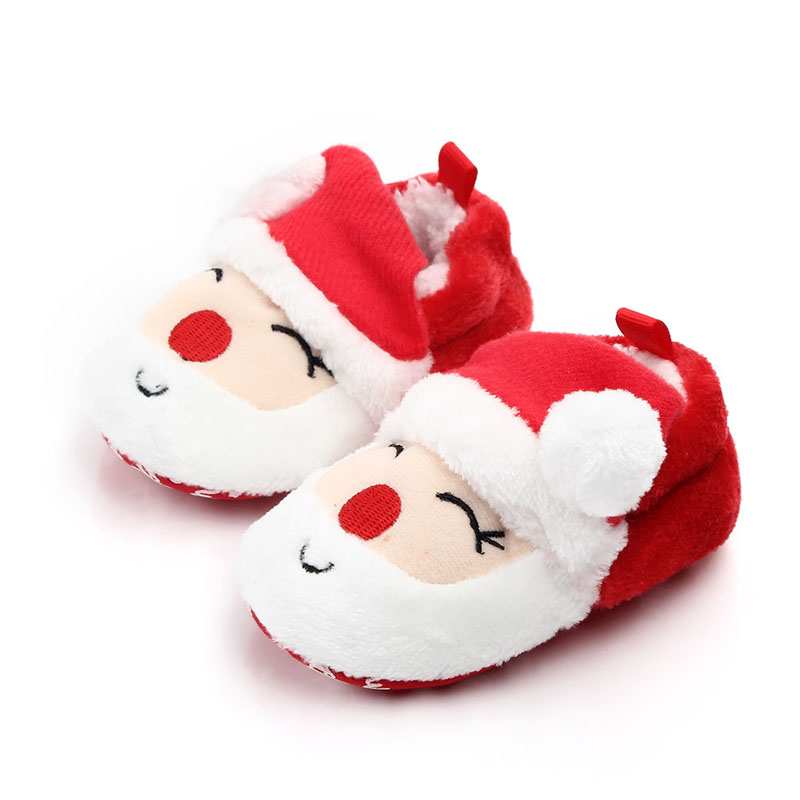 Winter Children Shoes Baby Girl Boys Shoes Comfortable Mixed Colors Fashion First Walkers Kids Cotton Warm Christmas Shoes