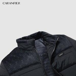 Image 5 - CARANFIER หนาฤดูหนาวแจ็คเก็ตชายเสื้อผ้าลำลองคุณภาพสูงแฟชั่นฤดูหนาว Men Parka Outerwear