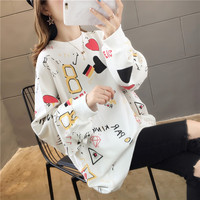 2019 Good Quality Cotton Easy Long Sleeve Sweater Woman 89313