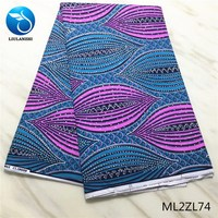 LIULANZHI Wax african fabrics for women dress New arrival ankara real wax with stones 6yards/lot ML2ZL65 ML2ZL74