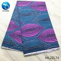 LIULANZHI Wax african fabrics for women dress New arrival ankara real wax with stones 6yards/lot ML2ZL65 ML2ZL74