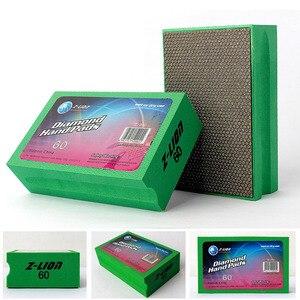 Image 5 - Z LION Diamond Hand Polishing Pad Foam Backed Glass Polishing Pad Stone Ceramic Tile Grinding Diamond Abrasive Pads