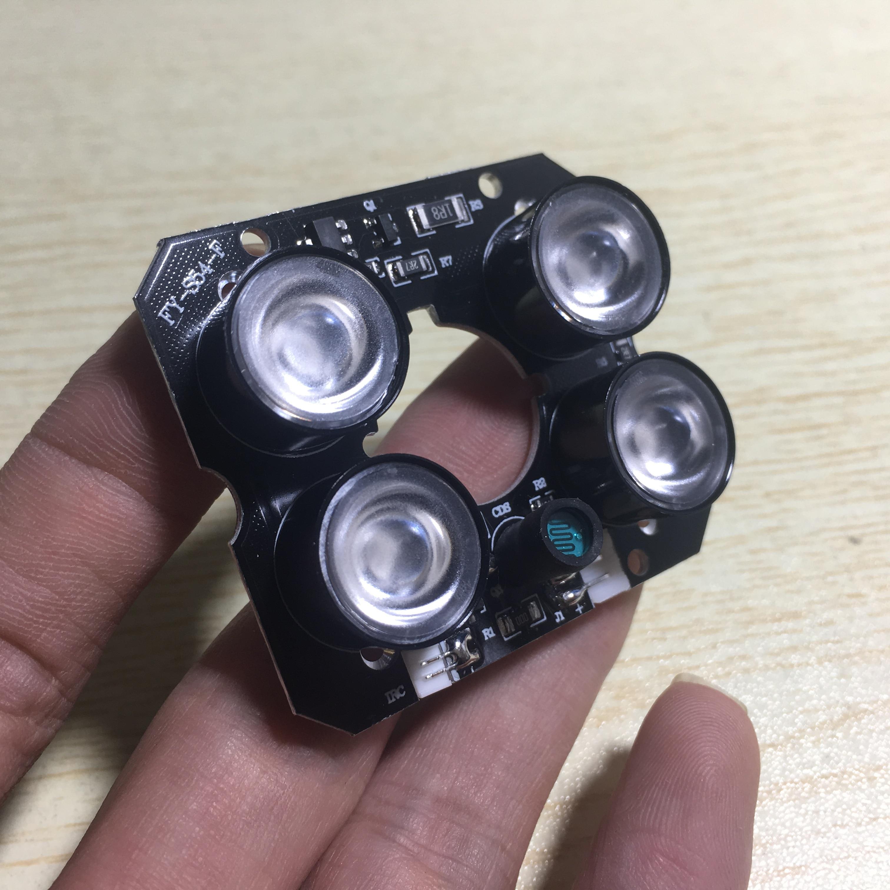 1X(4 conjuntos de punto de luz infrarroja led IR, 4x placa LED IR para cámaras CCTV cerca Sensor Detector infrarrojo de seguridad de puerta automático, Sensor de movimiento, deslizamiento, puerta de garaje, fotocélulas infrarrojas de seguridad de puerta