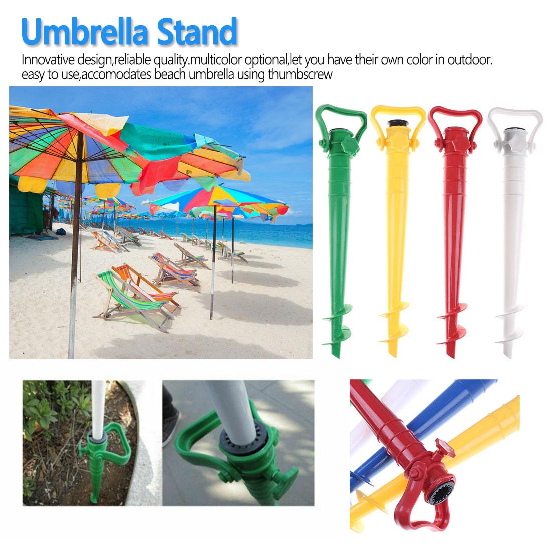 Sun Beach Fishing Stand Rain Gear Garden Patio Parasol Ground Anchor Spike Umbrella Stretch Stand Holder 1 Pcs