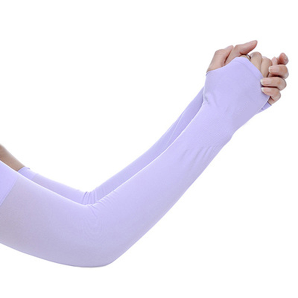 Arm Sleeves Ice Silks Sun UV Protection Hand Protector Cover Outdoor Arm Warmer -MX8