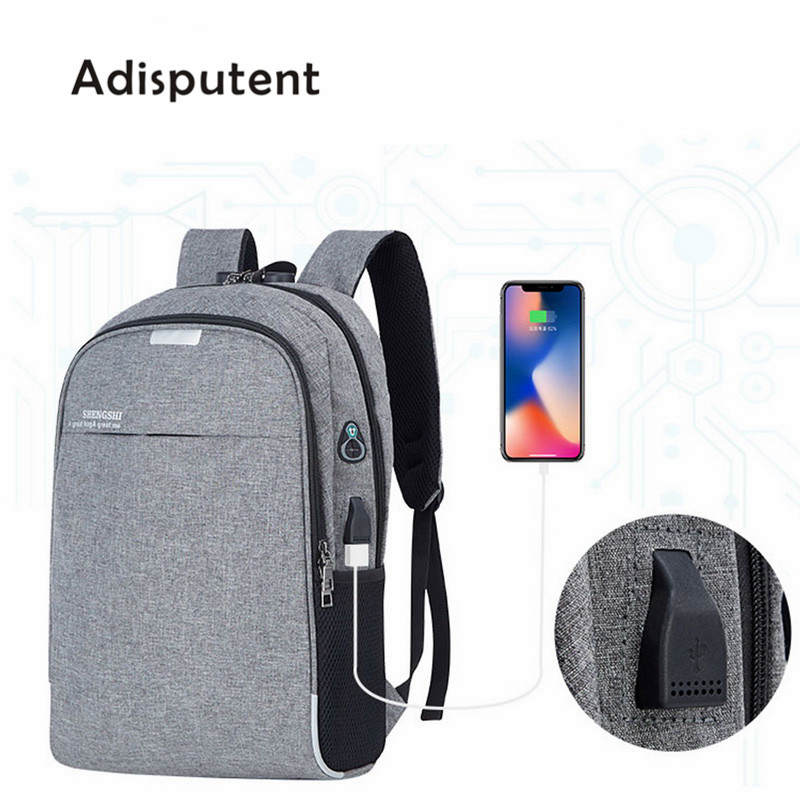 Laptop Backpack USB Charging 15.6 inch Anti Theft Women Men School Bags For Teenage Girls College Travel Backpack Nylon Male image