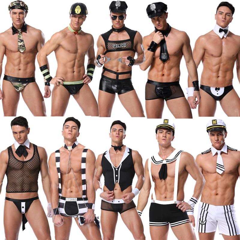 11 arten Sexy Cosply Uniform Ploice Uniform Für Mann Unterwäsche Set Exotische Kostüme Für Valentinstag Spezielle Tag