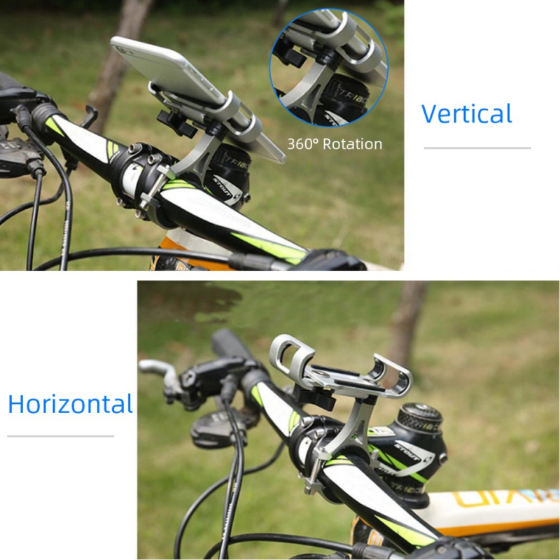New Aluminum Alloy Bike Phone Mount Phone Holder With 360 Degree Rotation For IPhone 11/Pro/ Pro Max For 4 To 6.5 Inch Devices