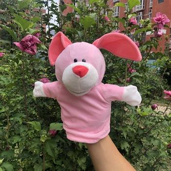 Pacynka na rękę ze zwierzęciem pluszowa zabawka Panda kaczka papuga rekin Angora królik lalki piękne lalki historia udawaj fantoche prezenty dla dzieci tanie i dobre opinie Fancy Hotty smoke-free pet-free Puppets Plush 3 lat SH-1 Unisex Hand Puppet