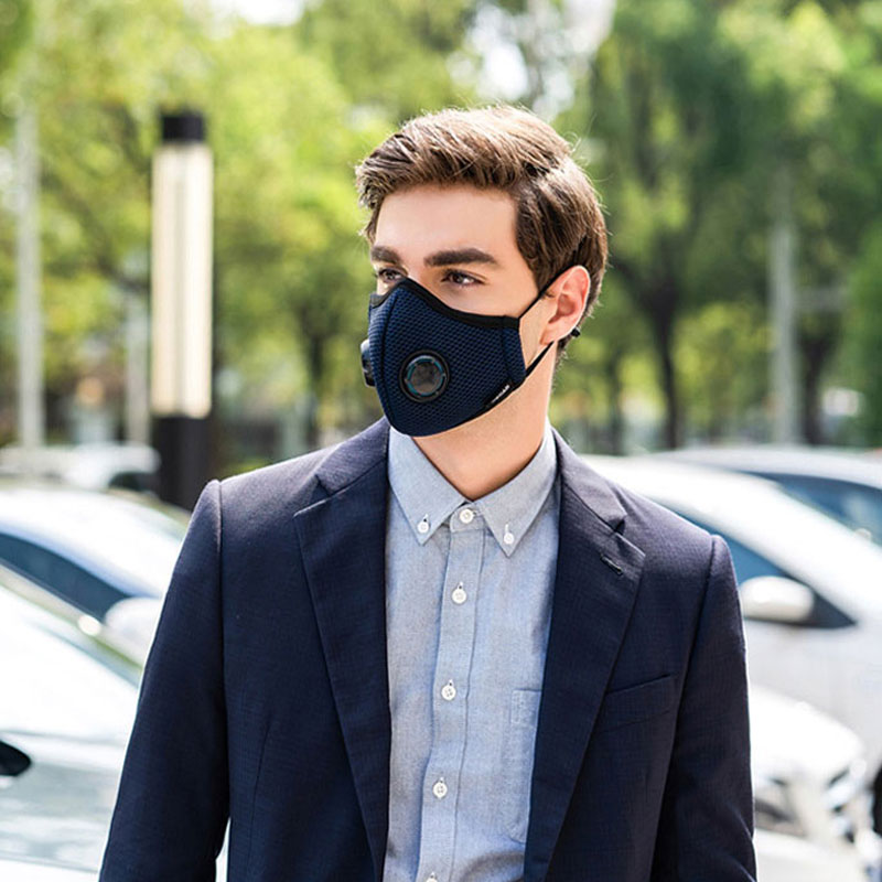 Activated Carbon Dustproof Mask, Anti Haze Air Filter Mouth Face Mask Anti Pollution Pollen Allergy Flu PM2.5 KN95 Dust Mask