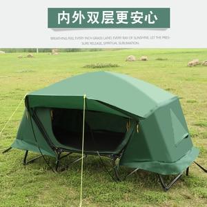 Image 4 - Enkele persoon outdoor thermische isolatie, off grond tent, outdoor enkele persoon bed regenbui, vissen tent