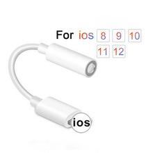 Adaptador de auriculares Lightning para iPhone 7 de alta calidad, Cable de Audio 2 en 1 de 3,5mm, adaptador de auriculares