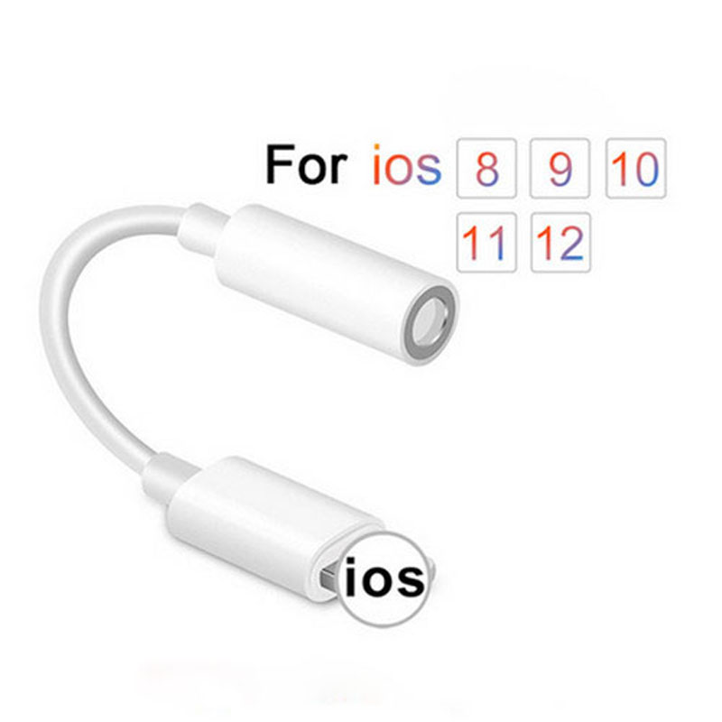 High quality For iPhone 7 <font><b>Lightning</b></font> <font><b>To</b></font> 3.5mm 2in1 Audio Cable <font><b>Jack</b></font> Earphone <font><b>Headphone</b></font> <font><b>Adapter</b></font> image