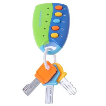 Baby Musical Flash Key Toy Anti-theft Lock Colorful Smart Remote Car Key Model Educational Toys For Children Gifts image