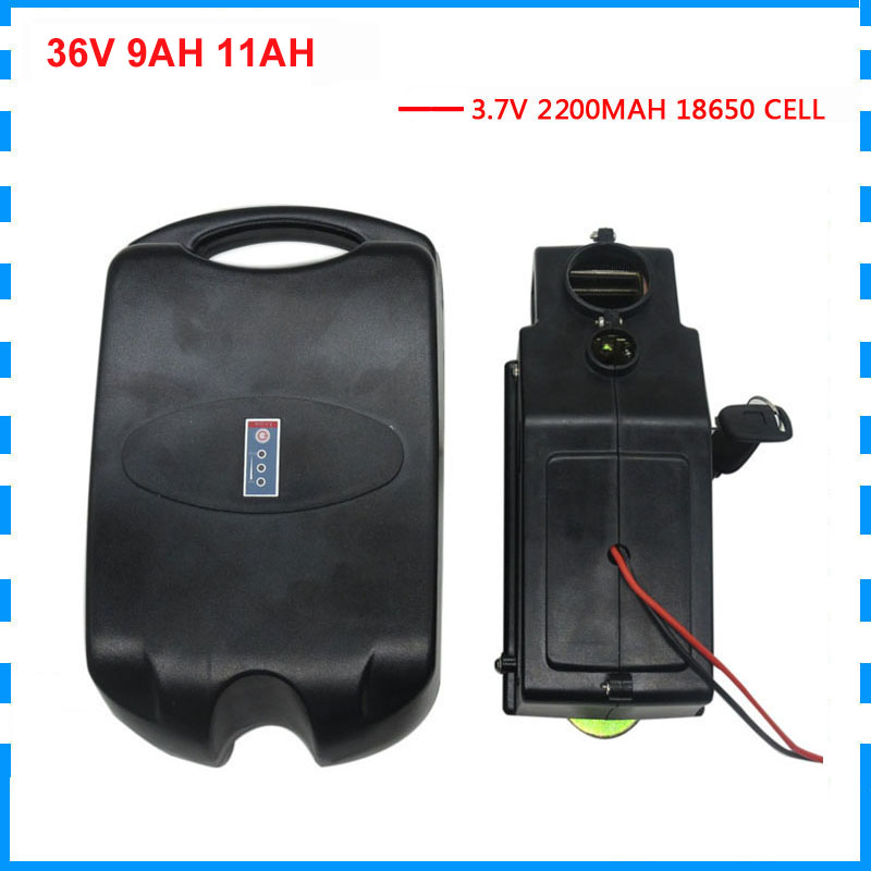 500W 36Volt 9AH Electric Bike battery 36V 11AH Lithium battery packs use 2200MAH 18650 cell 15A BMS with 42V 2A Charger image