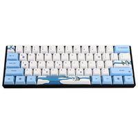 Chaveiro de perfil mecânico para pc  teclado de computador  pinguim  pbt  subolmação  oem para gk61 gk64