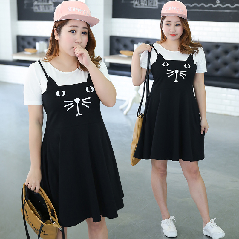 Manufacturers Supply Of Goods A Generation Of Fat Mm Plus-sized WOMEN'S Dress By Age Cartoon Full Body Dress Parent-child Matchi