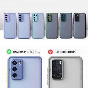 Модный противоударный матовый чехол для объектива камеры для Samsung Galaxy S21 Ultra S20 FE S10 S9 S8 Plus Note 20 Ultra 10 9 8 Pro, задняя крышка