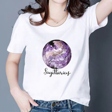 Vintage Vogue Constellation T-shirt mode animé belle mystérieux univers été printemps T-shirt Harajuku comness T-shirt(China)