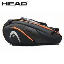 Orijinal kafa tenis çantası su geçirmez spor 6-9 raket Badminton çantası erkek kadın meslek eğitim Squash Padel raket sırt çantası