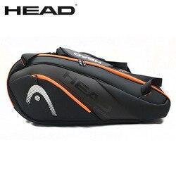 Original HEAD Tennis Bag Waterproof Sports 6-9 Racket Badminton Bag Men Women Profession Training Squash Padel Racquet Backpack