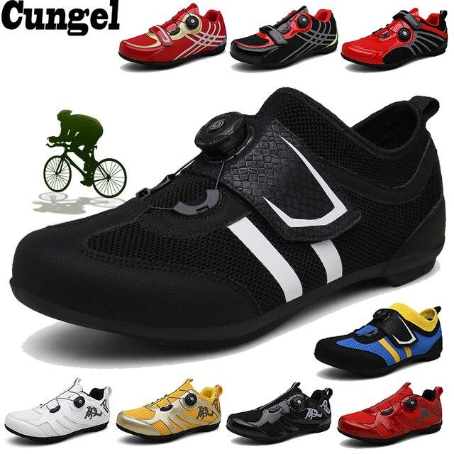 Cungel tênis profissional auto-travável, sapatos masculinos e femininos para ciclismo de montanha, mtb, calçados de corrida, mountain bike, profissional 1