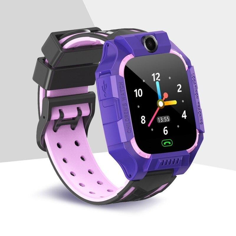 Enfants étanche SOS montre-bracelet 2 voies Audio appel garçons/filles d'urgence montre intelligente GPRS Tracker SIM enfants montre