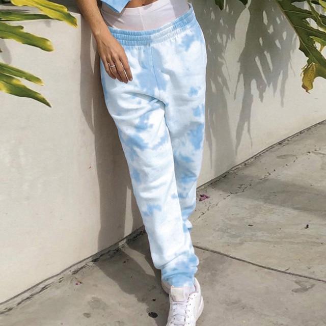 Γυναικείο tie dye χαλαρό παντελόνι
